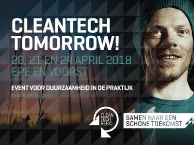 Groene Kolenboer standhouder tijdens Cleantech Tomorrow